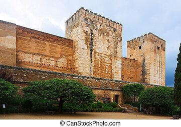 Towers of Alcazaba at Alhambra. Granada