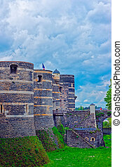 Towers of Chateau Angers Castle