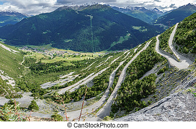 Towers of Fraele ascent, Touristic attraction in Valtellina...