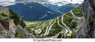Towers of Fraele ascent wide view, Touristic attraction in ...