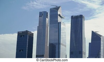 Towers of Lower Manhattan in New York, USA.
