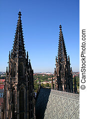 Towers of St. Vitus cathedral