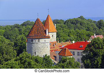 Towers of Tallinn, Estonia