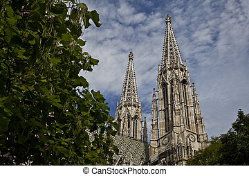 towers of the cathedral in vienna
