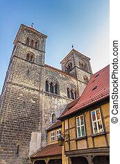 Towers of the Servatius church of Quedlinburg