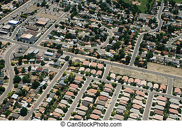 town aerial photograph