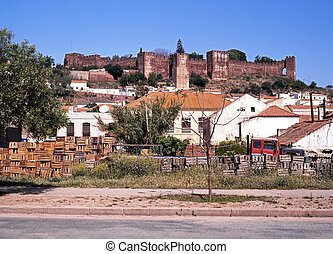 Town and castle, Silves, Portugal.