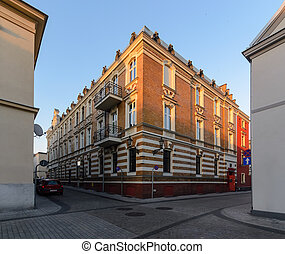 Town architecture in central part of Gliwice