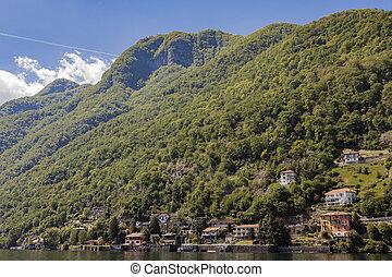 Town Argegno on Lake Como in Italy