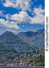 Town Argegno on Lake Como, Italy