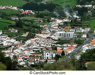 town at the Azores