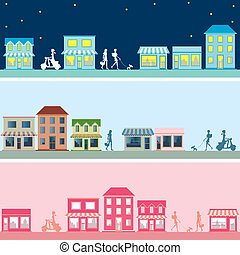 Town banner set - Illustration vector