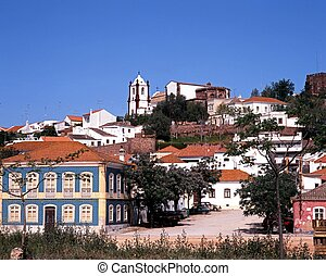Town buildings, Silves, Portugal.
