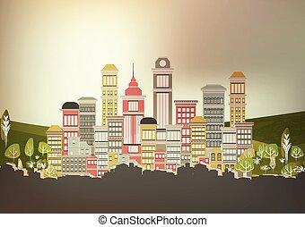 Town City Street