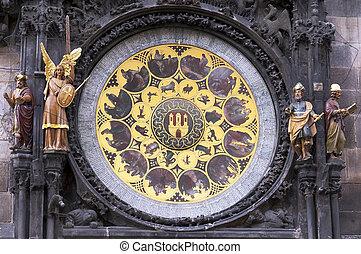 town clock in Prague