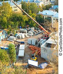 town construction site