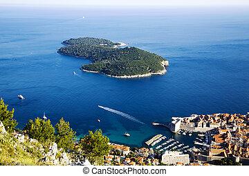 Town Dubrovnik and Lokrum island