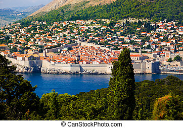 Town Dubrovnik in Croatia - View to town Dubrovnik in...