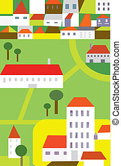 Town funny background for children