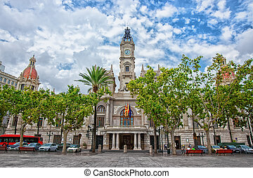 Town Hall and square in Valencia