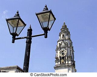 Town Hall Clock Tower - Town hall clock tower, Cardiff,...