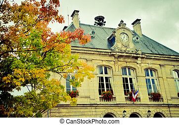 town hall in a little french town