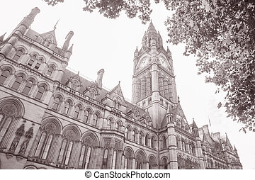 Town Hall in Albert Square; Manchester
