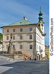 Town hall in old town of Banska Stiavnica, Slovakia.