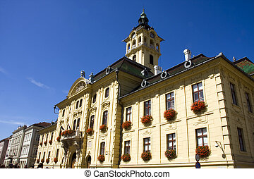 Town Hall in Szeged - Hungarian historical building