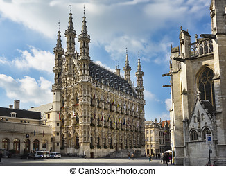Town Hall, Leuven, Belgium - Town Hall, grand place, grote...