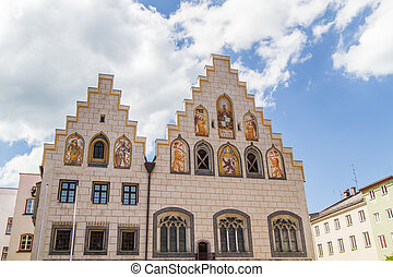 Town hall of Wasserburg am Inn, Bavaria, Germany