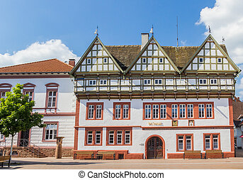 Town hall on the central square of Blomberg