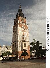 Town Hall on the market square. Krakow, Poland