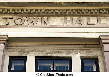 Town Hall - Exterior of local government office building...