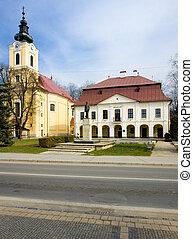 Brezno, Slovakia - town hall with museum, Brezno, Slovakia
