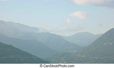 Town in Italian Alps. Stresa and Maggiore lake.