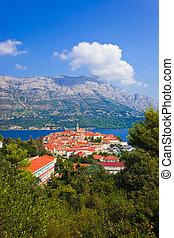 Town Korcula in Croatia