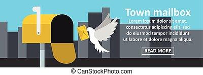 Town mailbox banner horizontal concept