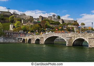 Town Namur in Belgium - architecture background