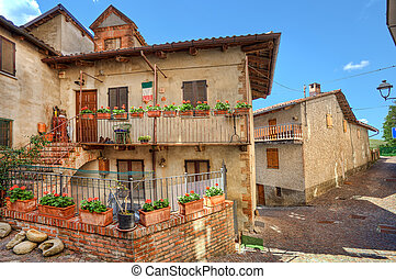 Town of Barolo. Piedmont, Italy.