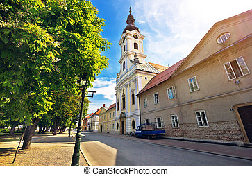 Town of Bjelovar square view