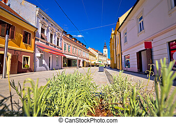 Town of Cakovec main street view, Medjimurje region of Croatia