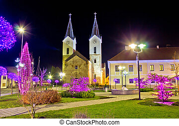 Town of Cazma christmas view