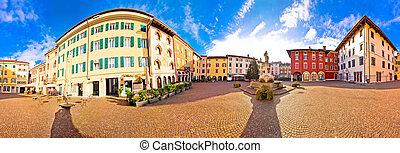Town of Cividale del Friuli colorful Italian square...