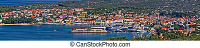 Town of Cres - panoramic view - beautiful Town of Cres, ...