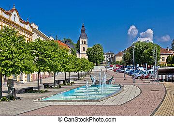 Town of Daruvar colorful main square, Croatia