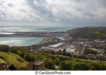 Town of Dover - View of the town of Dover in England.