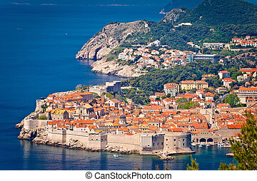 Town of Dubrovnik UNESCO world heritage site view