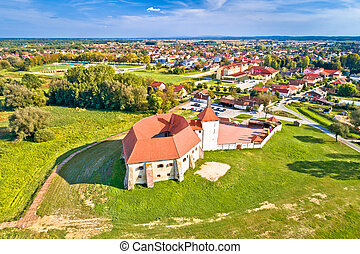 Town of Durdevac aerial view