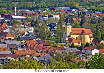 Town of Ivanec aerial view